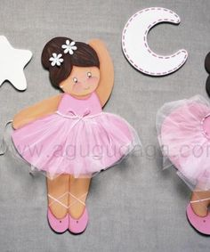 Composición siluetas bailarinas  rosas1