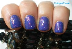 "China Glaze ""Fancy Pants"" topped with Finger Paints ""Flashy""  www.colorfulcrack.com"