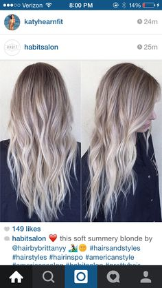 Love this icy blonde balayage