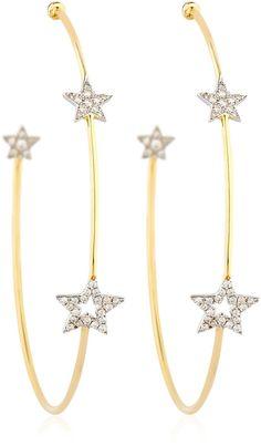 Trinity Star Hoop Earrings