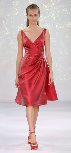 Luisa Beccaria - Scoop neck Mikado silk dress with draped bodice and skirt - Spring 2007 - Ready To Wear