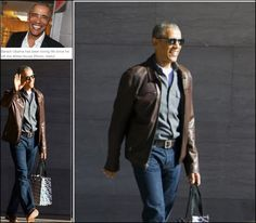 #44thPresident #BarackObama  After mesmerising us all with his jam-packed holiday earlier this year, former President Barack Obama is providing some serious style inspiration. The man who elevated the dadcore trend has evolved from tailored suits and traditional father jeans to suave leather. While visiting the National Gallery of Art with wife Michelle on Sunday, March 5, 2017 #Obama was seen sporting a brown leather jacket and more slim-fitting jeans.