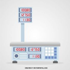 Electronic scale vector graphics.