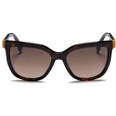 f373a9d6e0b1 Fendi Colourblock temple tortoiseshell acetate sunglasses (440 CAD) ❤ liked  on Polyvore featuring accessories