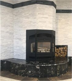 Beautiful from all angles! This wood burning fireplace installation by Apex Fireplace shows off the bay window of this RSF Delta Fusion. Bay Window, Wood Burning, Fireplaces, Angles, Windows, Beautiful, Home Decor, Fireplace Set, Fire Places