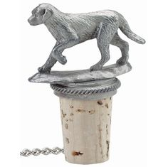 Dog - Pewter Bottle Stopper