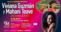 Viviana Guzmán y Mahani Teave ofrecieron dos tremendos conciertos en el Teatro de la Escuela