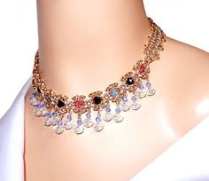 Chainmaille necklace byzantine romanov with por NezDesigns en Etsy
