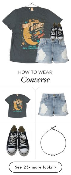 """"" by southernstruttin on Polyvore featuring Levi's, Frame and Converse"