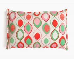 Coussin vintage Junon rouge, rose, vert, bleu | chambre Amélie ...
