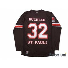 4bf28f53341 FC St. Pauli 2012-2013 Home Long Sleeve Shirt #32 Buchler Bundesliga Patch/ Badge