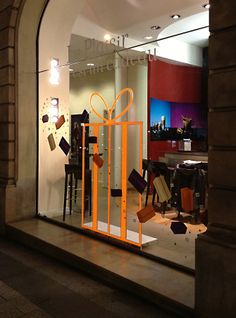 Nespresso® chooses Light Tape® Extreme Orange to help bring in the shoppers. http://www/lighttape.co.uk #nespresso #lighttape #coffee #window #display