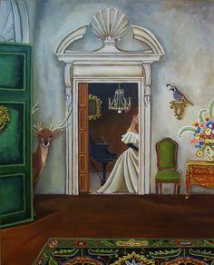 Still Life Original Painting-House Call-Fine art print    by catherine nolin