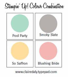 Combinaison Stampin Up Couleur - Cliquez à travers pour 3 échantillons en utilisant ces couleurs