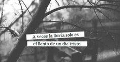 〽️ A veces la lluvia sólo es el llanto de un día triste...