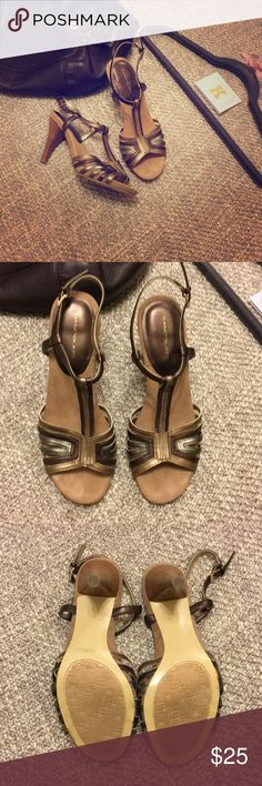 Bandolino sandal Only worn once Very comfortable sandal  Perfect for the holiday season Bandolino Shoes Sandals