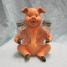 """""""Porcine Spice"""", Pig Salt and Pepper Shaker Set"""