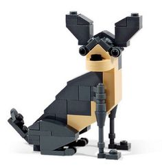 a chihuahua made out of Lego...