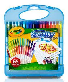 afa229bf2776 Crayola Super Tips Washable Markers Art Kit