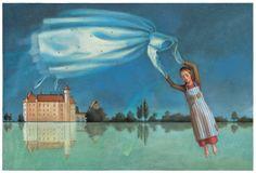 "Henriette Sauvant illustration from the book ""Zaubermarchen"" (Fairy Tales)."