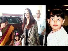 Aishwarya Rai with her cute daughter Aaradhya at Mumbai airport. Aishwarya Rai Latest, Mumbai Airport, Gossip, Interview, Daughter, Photoshoot, Cute, Youtube, Pictures