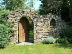 I really like rough stone walls in gardens