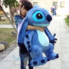 Giant Hung Lilo & Stitch toy Stuffed Plush soft Doll Pillow Valentine gift in Toys & Games, Soft Toys & Stuffed Animals, Disney Lilo And Stitch Toys, Lilo And Stitch Quotes, Lilo Y Stitch, Cute Stitch, Disney Stitch, Peluche Stitch, Stitch Stuffed Animal, Cute Disney Outfits, Stitch And Angel