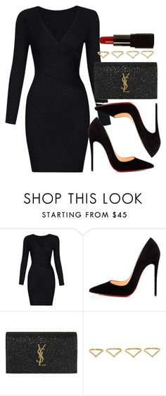 """Style #11443"" by vany-alvarado ❤ liked on Polyvore featuring Christian Louboutin, Yves Saint Laurent, Ana Khouri and Illamasqua #classyoutfits"