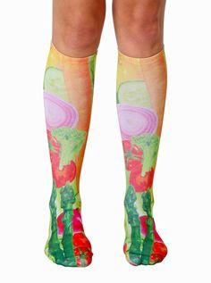 Veggies Knee High Socks