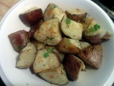 "Oven-Roasted Potatoes - ""Super easy and yummy, i made it with bake fish and steamed vegetables. love it.  :positive"" @allthecooks #recipe"