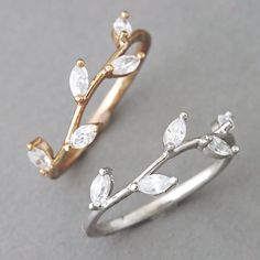 Rose Gold Olive Branch Leaf Ring from http://Kellinsilver.com - I want one of these with each of my kids birthstones in it :)