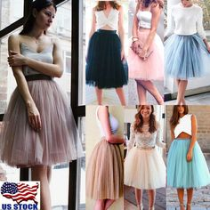 44cdc6d945 Layer Tulle Skirt Women Party Dress 50s Rockabilly Tutu Petticoat Ball Gown  Long