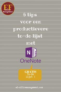 Je kunt productiever werken met OneNote als je voor je to-do lijst gebruik maakt van een aantal specifieke mogelijkheden die dit programma biedt. , , , #todolijst #virtualassistant #productiviteit #efofficemanagement