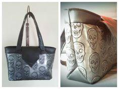 Un #sac Madison cousu par Caroline en simili tête de mort. Patron de #couture Sacôtin