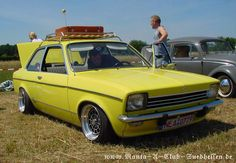 """Old front and a lot of chrome trim. Notice the roofrack and single """"Talbot style"""" mirror. Lowered more than 60mm I guess. Any one recognize the wheels?"""