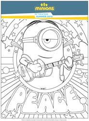 Jerry Stuart And The Minion Want To Get In The Cup Coloring Page