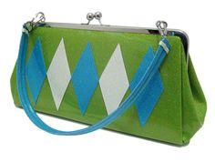 Retro Vinyl Diamond Handbag