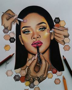 Find images and videos about beauty, rihanna and riri on We Heart It - the app to get lost in what you love. Black Love Art, Black Girl Art, Art Girl, Art Sketches, Art Drawings, Badass Drawings, Horse Drawings, Cartoon Drawings, Dope Cartoon Art