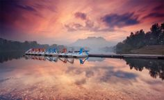 Sunset Arèna Lake - Roquebrune sur Argens (French Riviera) by Eric Rousset