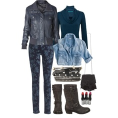 It may be Monday, but if you're going to get the blues make sure they're stylish! Like with leather! In luscious colors, layered with cozy knits & floral prints… introduce yourself to the coolest leather coats this winter.  Add a cool blue leather jacket to a chambray shirt, cowl neck sweater & floral skinnies. Finish with stacks of @Stella and Dot arm candy, a @CC Skye Inc. killer crossbody, super sexy @wet n wild pout & edgy Fergie boots!