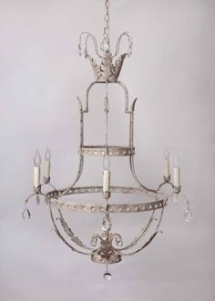 LOVE this!  Julie Neill Designs - New Orleans handcrafted chandeliers, wall sconces, custom lighting, hand-painted tables, hand-painted vanities