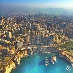 Breathtaking view of #Beirut from above! By @saiid_sea #WeAreLebanon  #Lebanon #WeAreLebanon