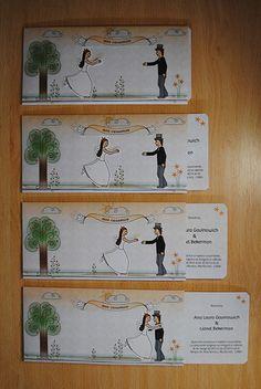 Tarjetas de Casamiento Ana-Lionel by Daniela Mirás, via Behance