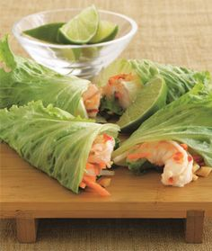 Low-Carb, Low-Calorie Shrimp Summer Rolls. These look good. Check recipe to verify healthy ingredients.