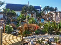 De Ware Jacob in Jacobs Bay. De Ware Jacob has four private separate luxury-cottages for guests that are fully equipped for self-catering, on a smallholding covered in fynbos. The natural fusion of down to earth west coast living, combined with a touch West Coast Living, Seaside Village, Weekend Getaways, Travel Destinations, Cottage, Luxury, Nature, Plants, House