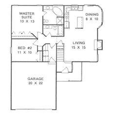 No basement means more living space on main floor. Traditional Style House Plan - 2 Beds 2 Baths 1041 Sq/Ft Plan #58-103 Floor Plan - Main Floor Plan - Houseplans.com