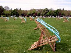 Blowing in the wind.  Lawn chairs in Hyde Park, London.  #boden & #fromlondonwithlove