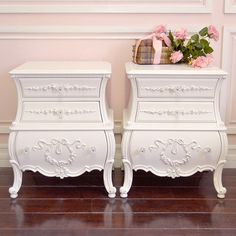 French vintage style nightstands
