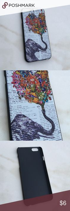 Elephant iPhone 5 Case Brand new, never used with no tags attacked. Features a written background with an elephant snorting up a heart made of flowers. Pretty unique and awesome! Price is firm. no trading Accessories Phone Cases