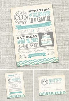 Love The Color Palette And Theme Of These Invites Beach Wedding Invitations